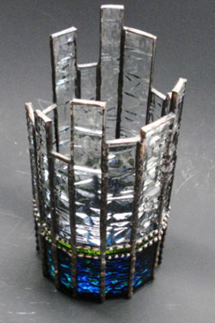 Sand Lake Trading fused glass votive Crystal Bay2